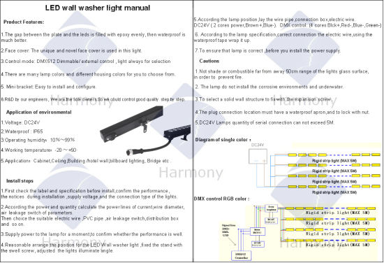 Outdoor&Indoor IP65 RGB LED Hot Selling Decorative Lighting